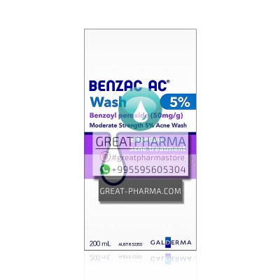 BENZAC WASH FOR ACNE CLEANING BENZOYL PEROXIDE 50MG | 200ml/6.76 fl oz