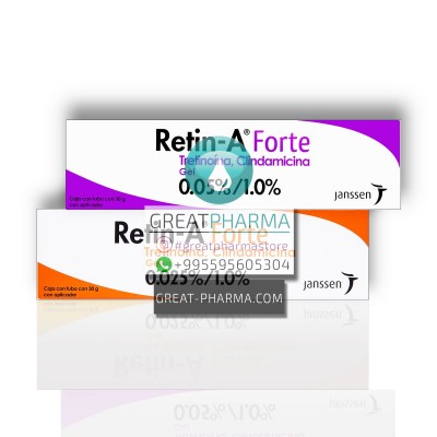 Retin-A Forte 0.025% or 0.05% Tretinoin / 0.1% Clindamycin Gel | 30g/1.06oz